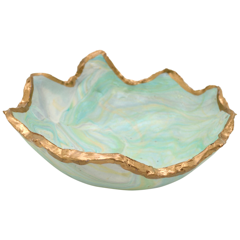 Home Claremont Clays Jagged Edge Bowl in Turquoise - Brother's on the Boulevard