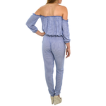 Womens Weekend Vibes Pin Stripe Jumpsuit in Blue - Brother's on the Boulevard