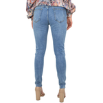 Womens Pearl Accented Jeans in Medium Blue - Brother's on the Boulevard