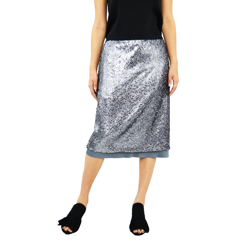 Womens Nic + Zoe Twinkle Night Skirt in Bluestone - Brother's on the Boulevard