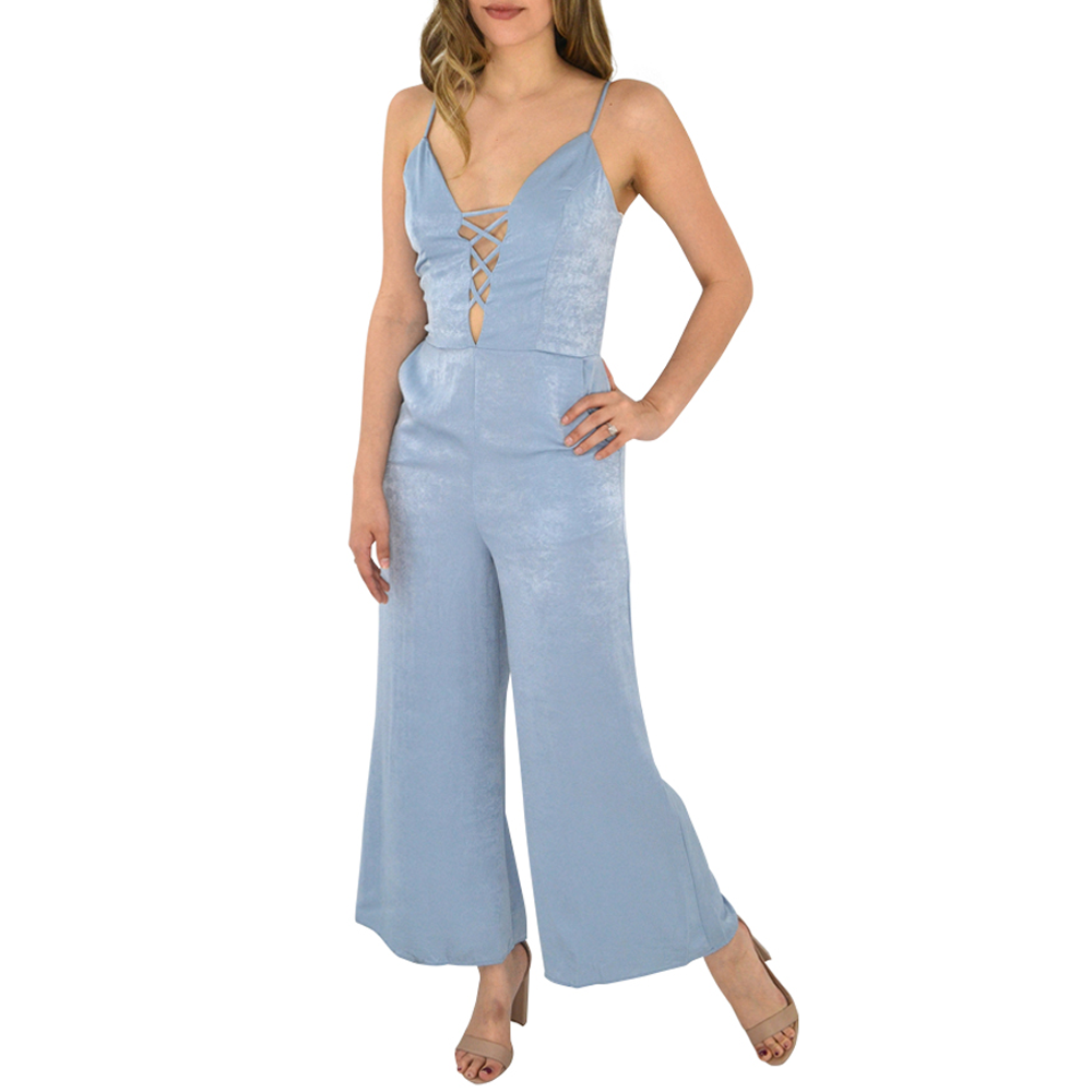 Womens PPLA Arlene Woven Jumpsuit in Light Blue - Brother's on the Boulevard