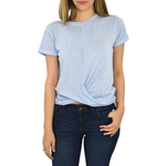 Weekend Vibes Beckett Tie Top in Chatblue