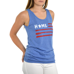 Womens The Light Blonde Home Tank in Blue - Brother's on the Boulevard