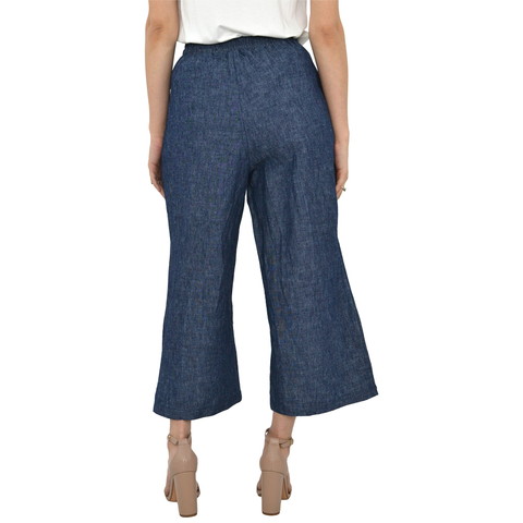 Poche 1913 Slit Denim Pant in Blue