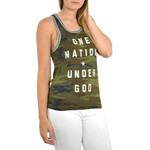 Womens The Light Blonde One Nation Tank in Camo - Brother's on the Boulevard