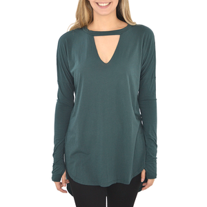 Womens Poche 1913 Chance Long Sleeve Top in Mesma - Brother's on the Boulevard