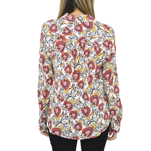 Womens Fifteen Twenty Shirred Back Shirt in Print - Brother's on the Boulevard