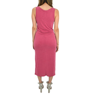 Womens Rouge Maxi Sleeveless Tie Front Dress in Raspberry - Brother's on the Boulevard