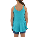 Tween Girls Weekend Vibes Girls Vintage Slub Jersey Swing Tank in Teal - Brother's on the Boulevard