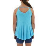 Tween Girls Weekend Vibes Girls Vintage Slub Jersey Swing Tank in Blue - Brother's on the Boulevard