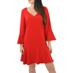 Julie Brown Mermaid Dress in Merry Red
