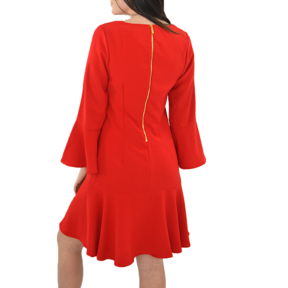 Womens Julie Brown Mermaid Dress in Merry Red - Brother's on the Boulevard