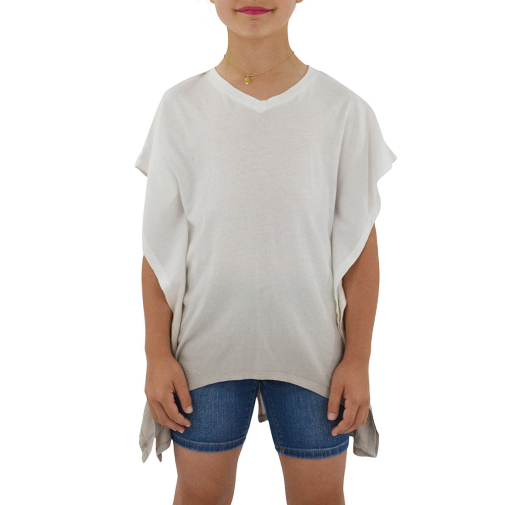 Tween Girls Ragdoll & Rockets Girls Jersey V-Neck Tunic in Tan Dip Dye - Brother's on the Boulevard