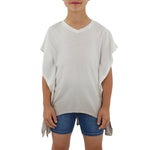 Ragdoll & Rockets Girls Jersey V-Neck Tunic in Tan Dip Dye