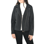 Womens ASTARS Sierra Vegan Moto Jacket in Black - Brother's on the Boulevard