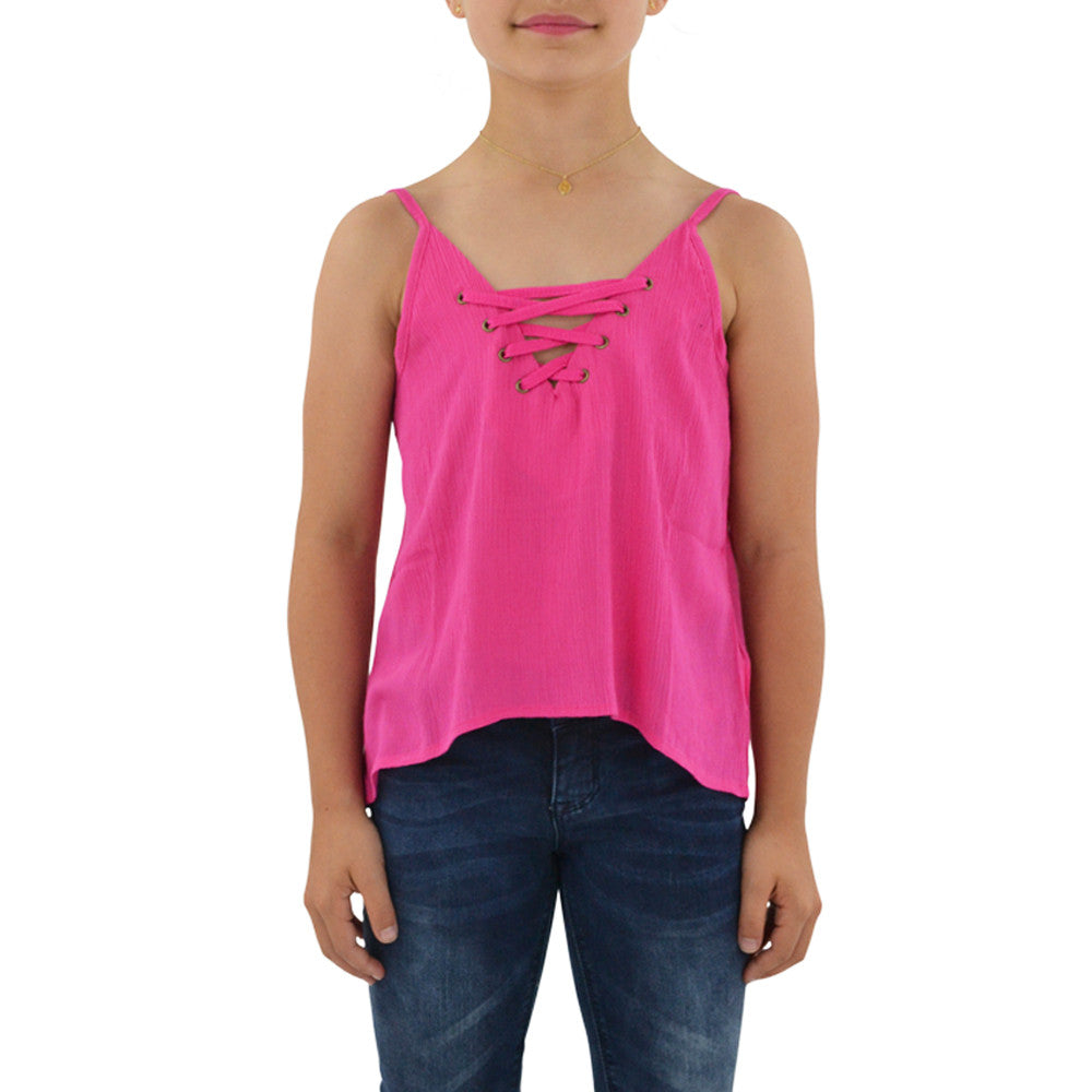 Weekend Vibes Girls Island Time Cami in Pink
