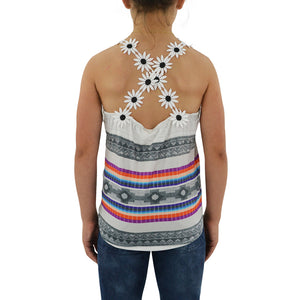 Tween Girls Weekend Vibes Girls Daisy Fields Tank in Multi - Brother's on the Boulevard