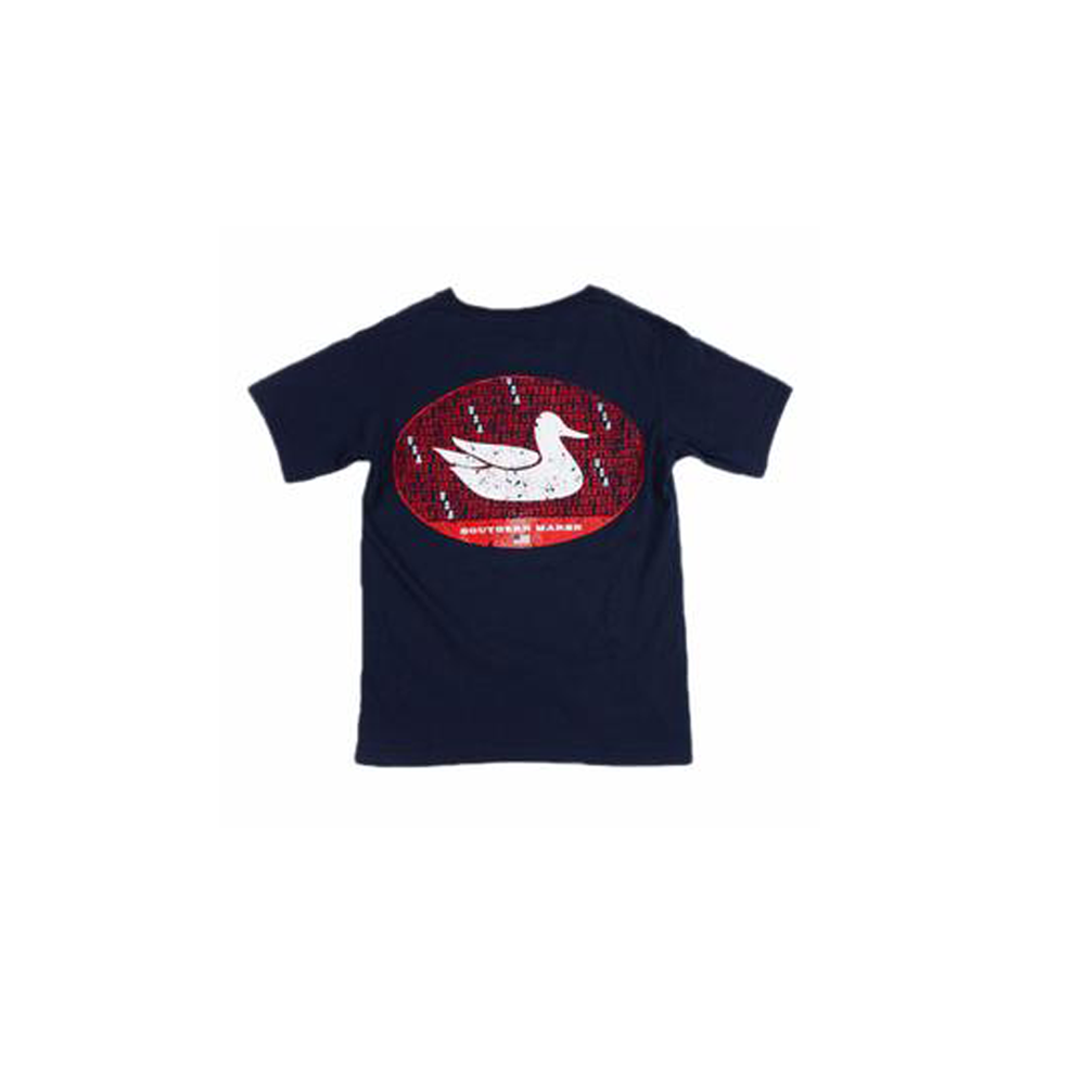 Boys Southern Marsh Youth America Tee in Navy - Brother's on the Boulevard