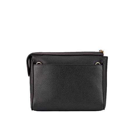 Gigi New York Dana Crossbody Bag in Black Embossed Italian Croco