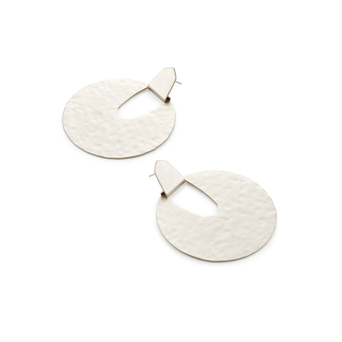 Kendra Scott Diane Statement Earrings in Bright Silver