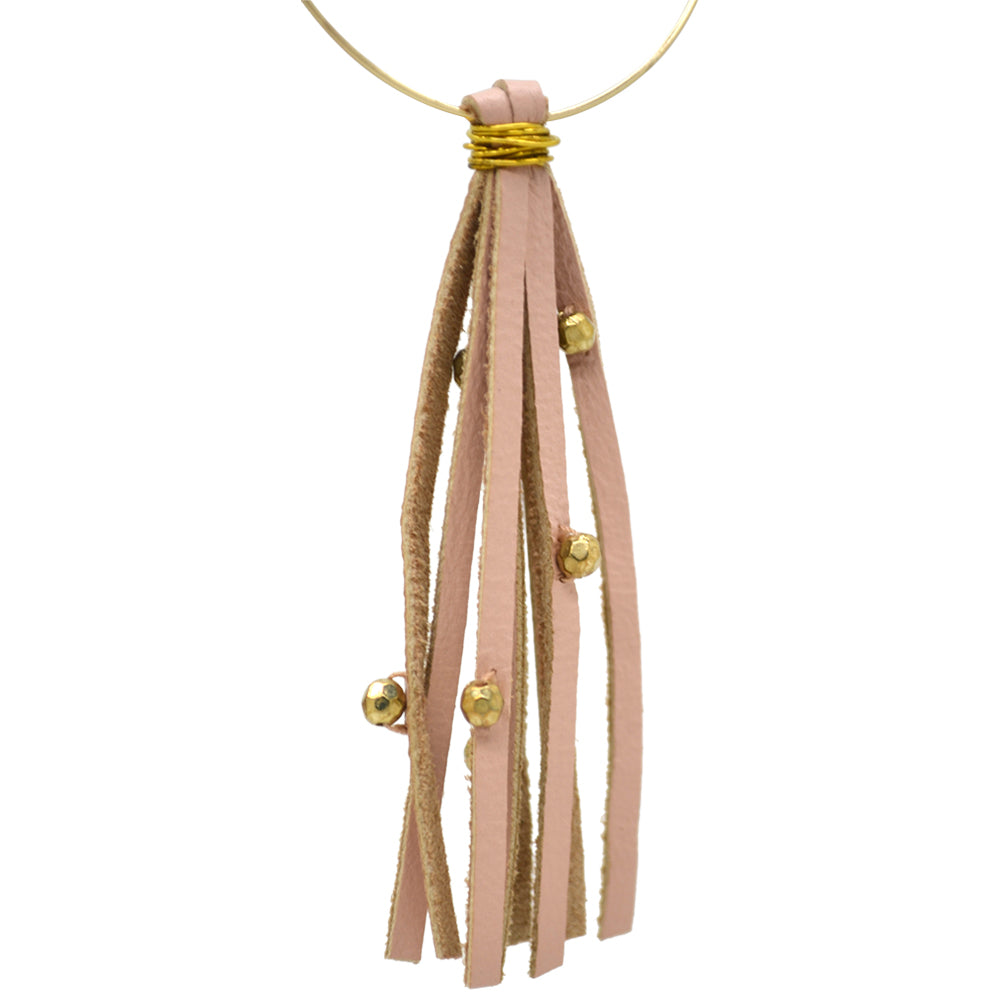 Womens Shira Melody Dottie Tassel Earring in Beige - Brother's on the Boulevard