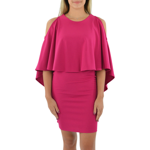 Womens Karlie Cold Shoulder Dress in Magenta - Brother's on the Boulevard