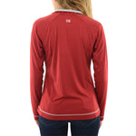 Womens Cutter & Buck UL Ragin Cajuns DryTec Evolve Half Zip in Cardinal Red - Brother's on the Boulevard