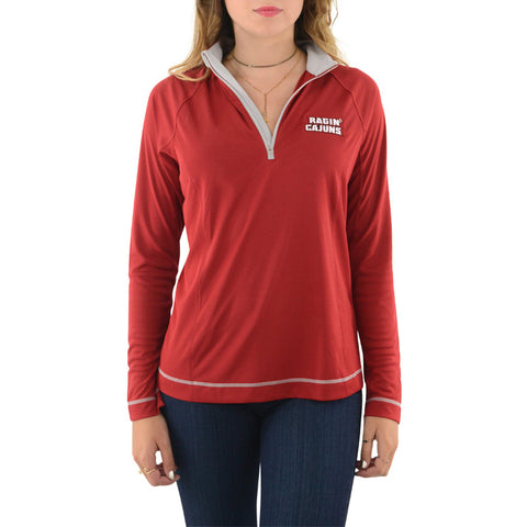 Cutter & Buck UL Ragin Cajuns DryTec Evolve Half Zip in Cardinal Red