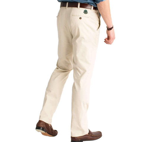 Mens Duck Head Green Badge Chino In Stone - Brother's on the Boulevard
