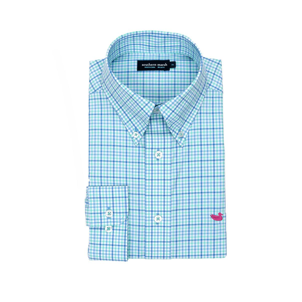 Mens Southern Marsh Dunlavy Check Dress Shirt in Lilac and Mint - Brother's on the Boulevard
