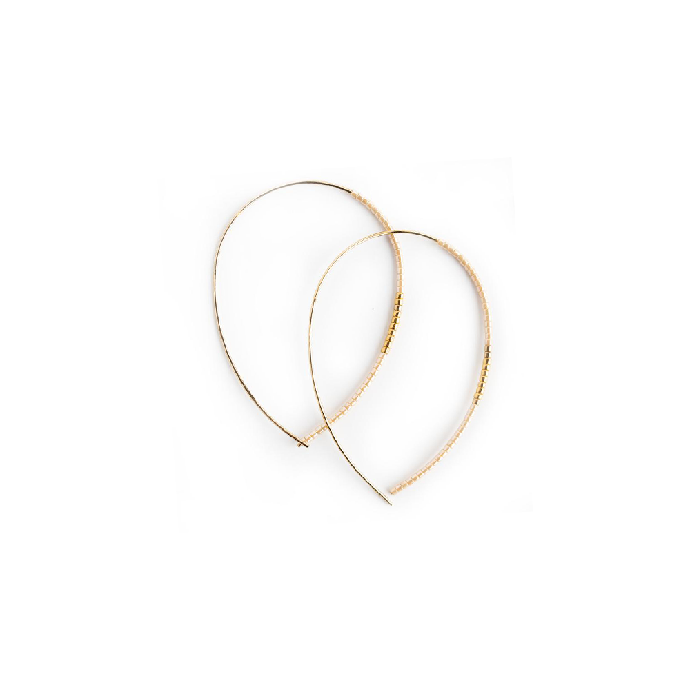 Lenny & Eva Norah Gold Earring in Blush