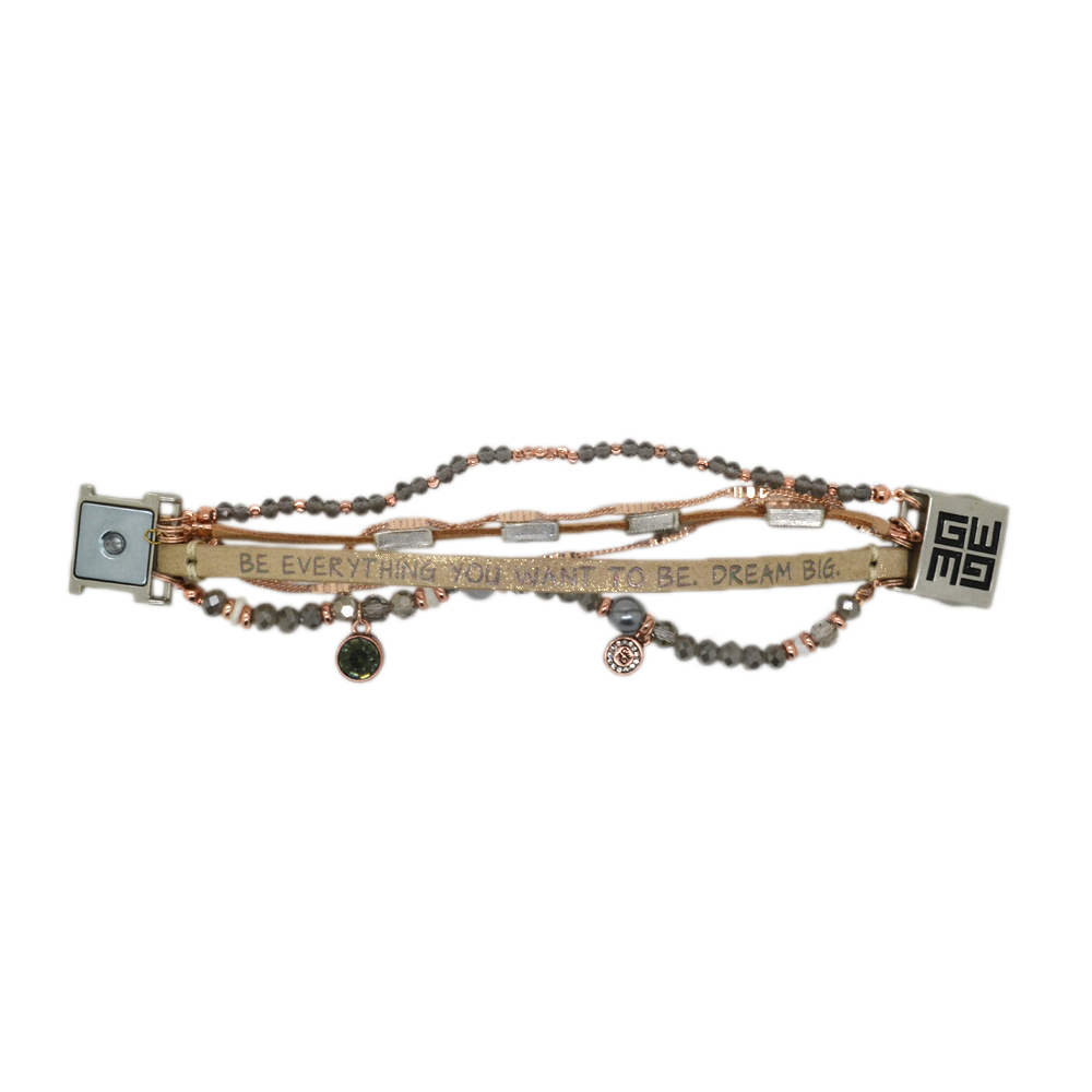 Good Works Be Everything You want To Be Bracelet in Beige