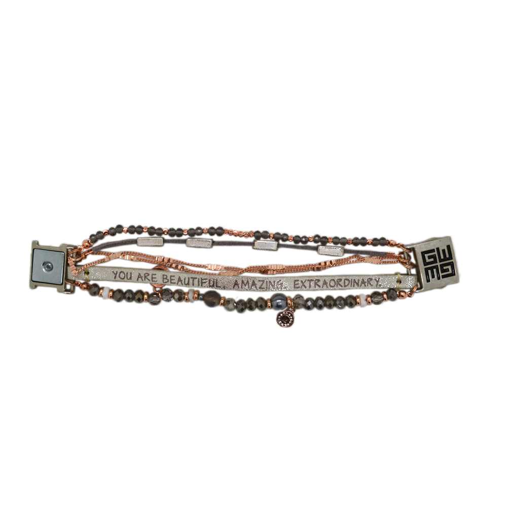 Womens Good Works You Are Beautiful Bracelet in White - Brother's on the Boulevard