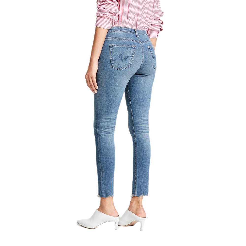 Womens AG Jeans Legging Ankle Jean in Ripped Denim - Brother's on the Boulevard