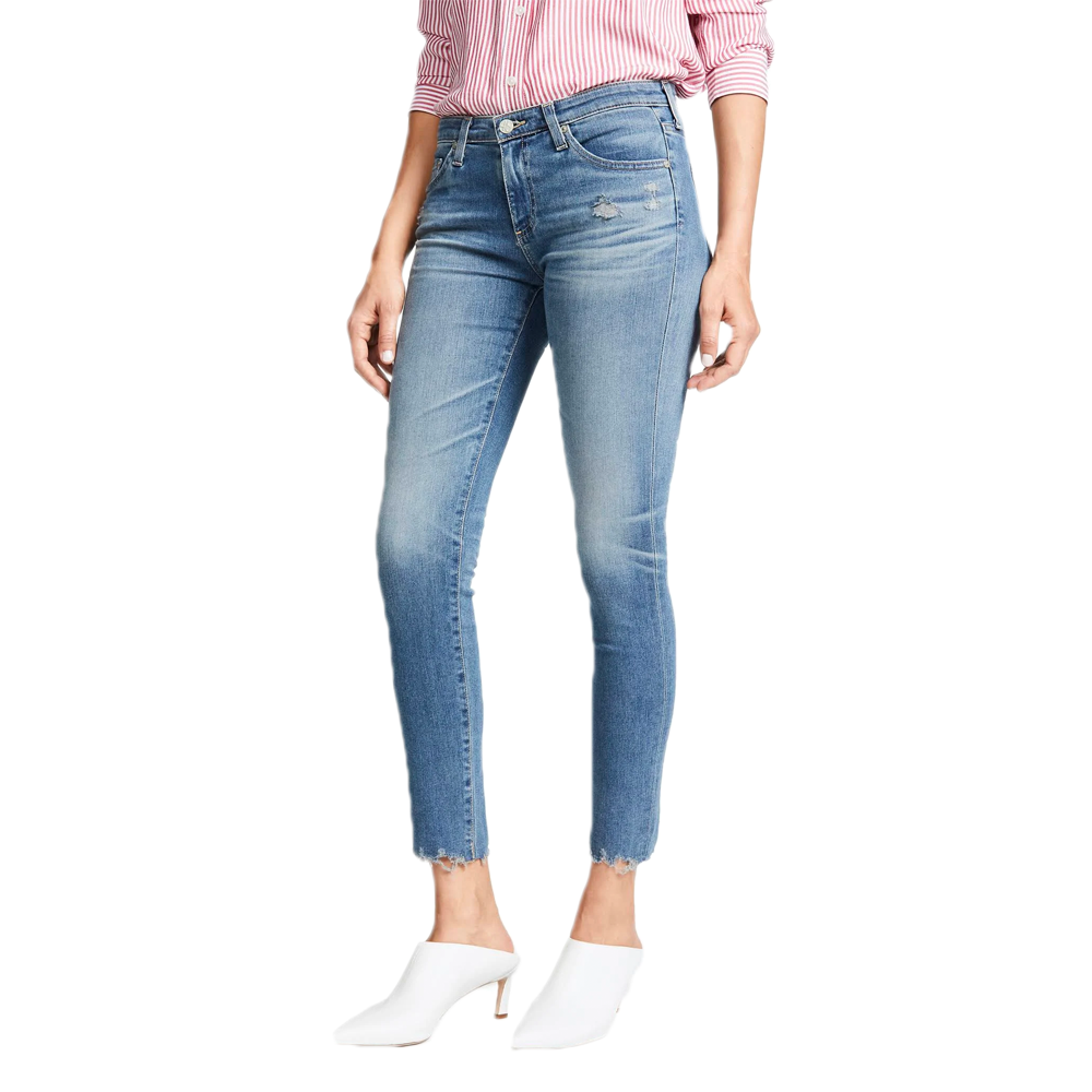 AG Jeans Legging Ankle Jean in Ripped Denim