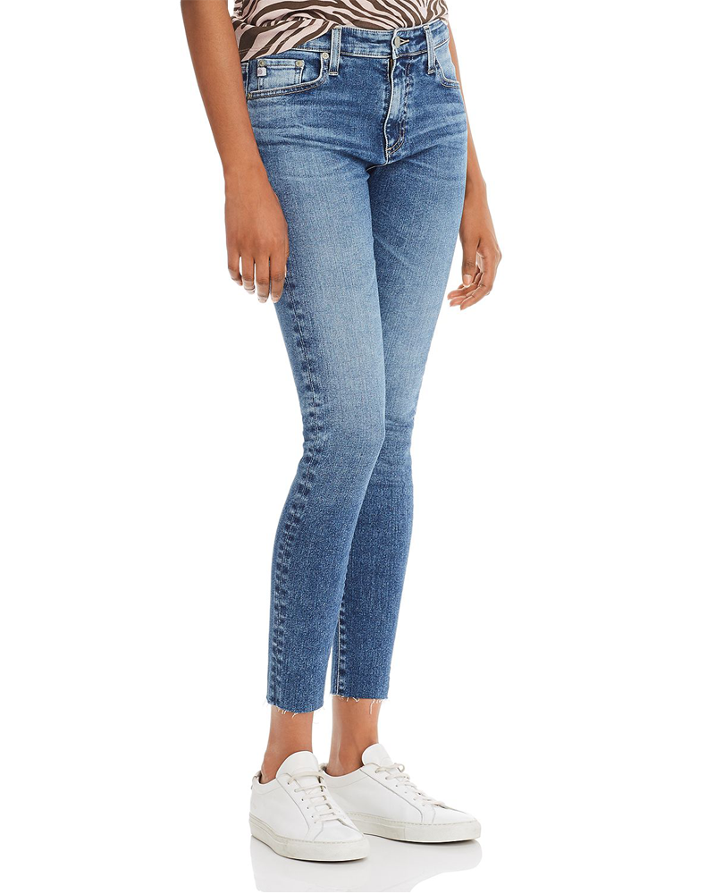 AG Jeans The Farrah High Rise Skinny Ankle in 12 Years Fluid