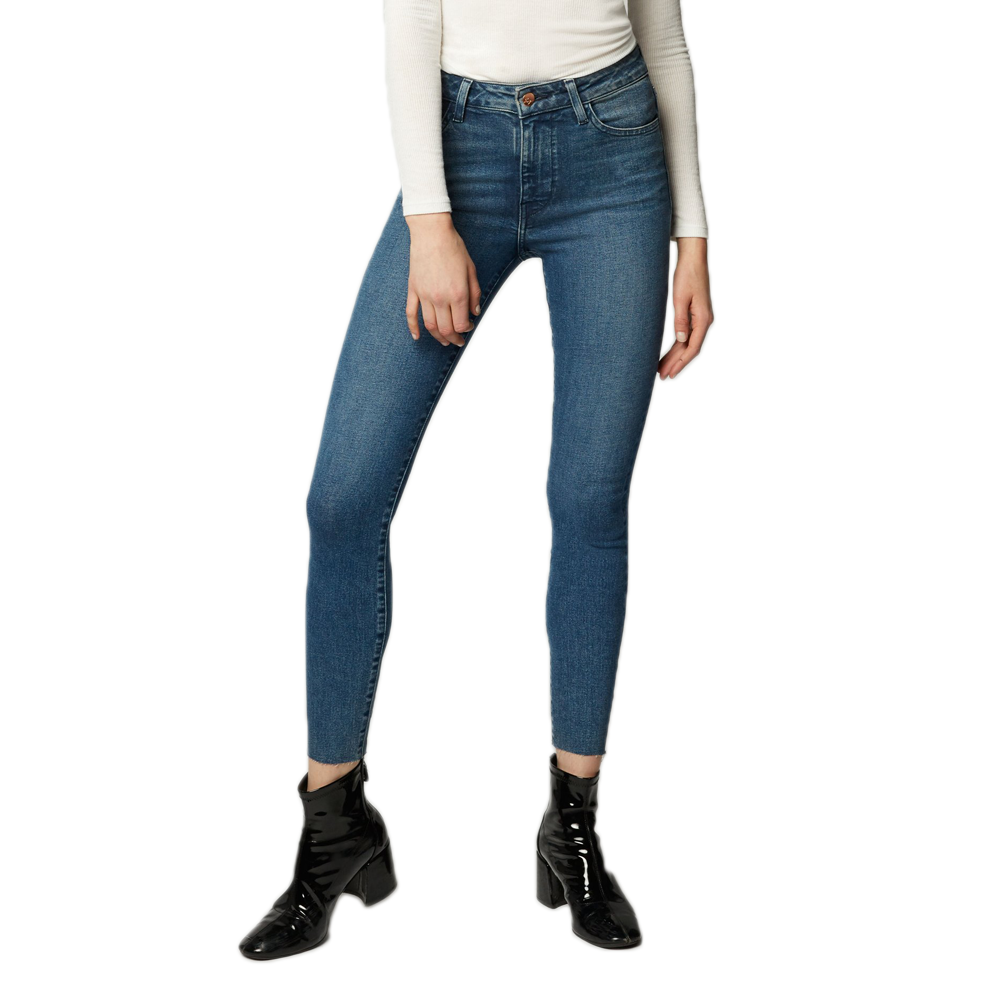 EMG Denim Giselle High Rise Skinny Jean in Medium Wash Blue