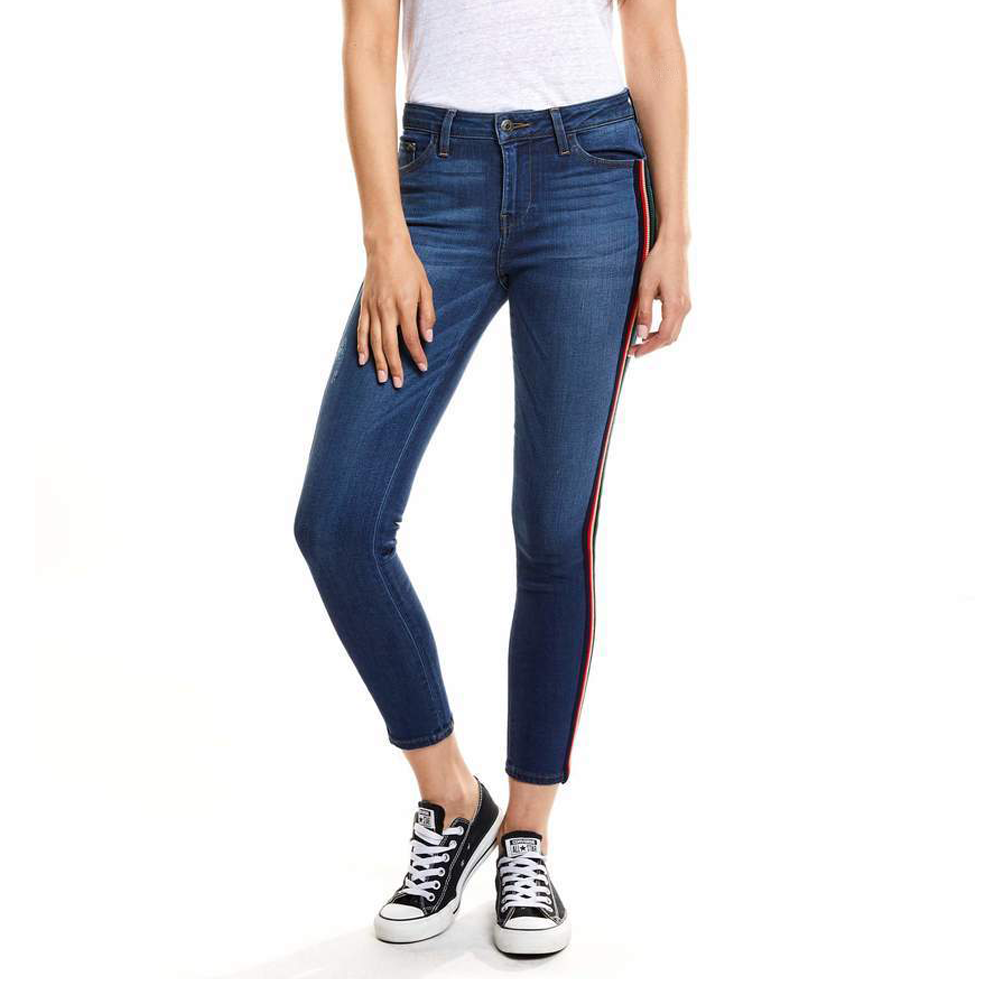 Womens EMG Denim Greta High Rise Cropped Skinny Jean in Fruit Punch - Brother's on the Boulevard