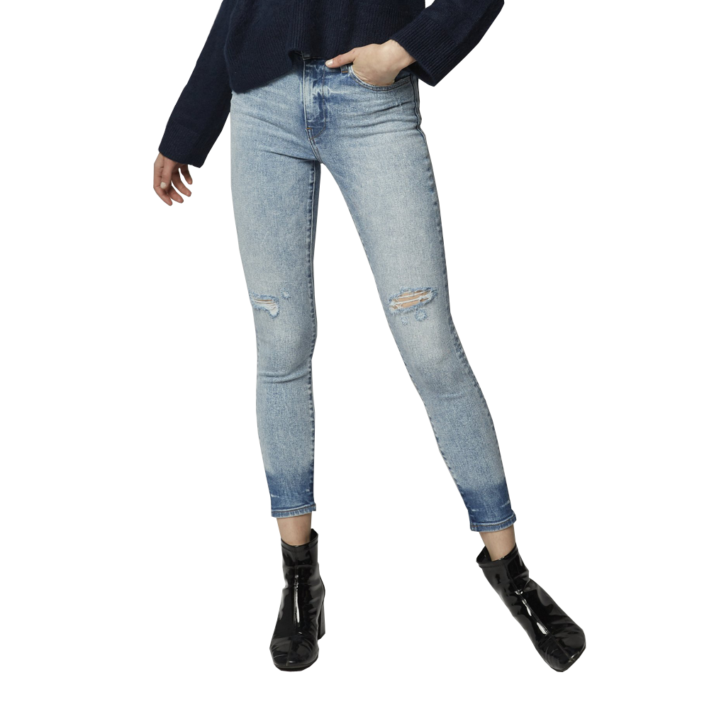 EMG Denim Greta High Rise Cropped Skinny Jean in Voodoo