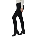 Womens EMG Denim Lily Mid Rise Skinny Jean in Black - Brother's on the Boulevard