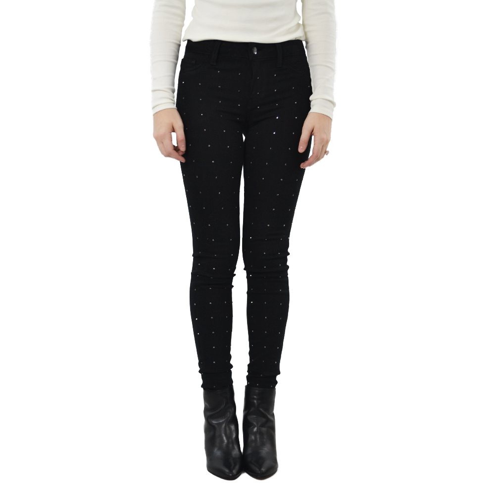 EMG Denim Lily Mid Rise Skinny Jean in Black