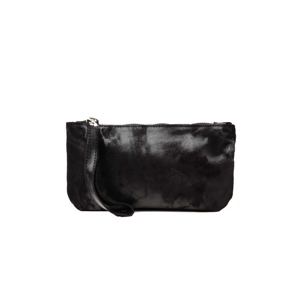 Cofi Leather Ellie Wristlet in Black