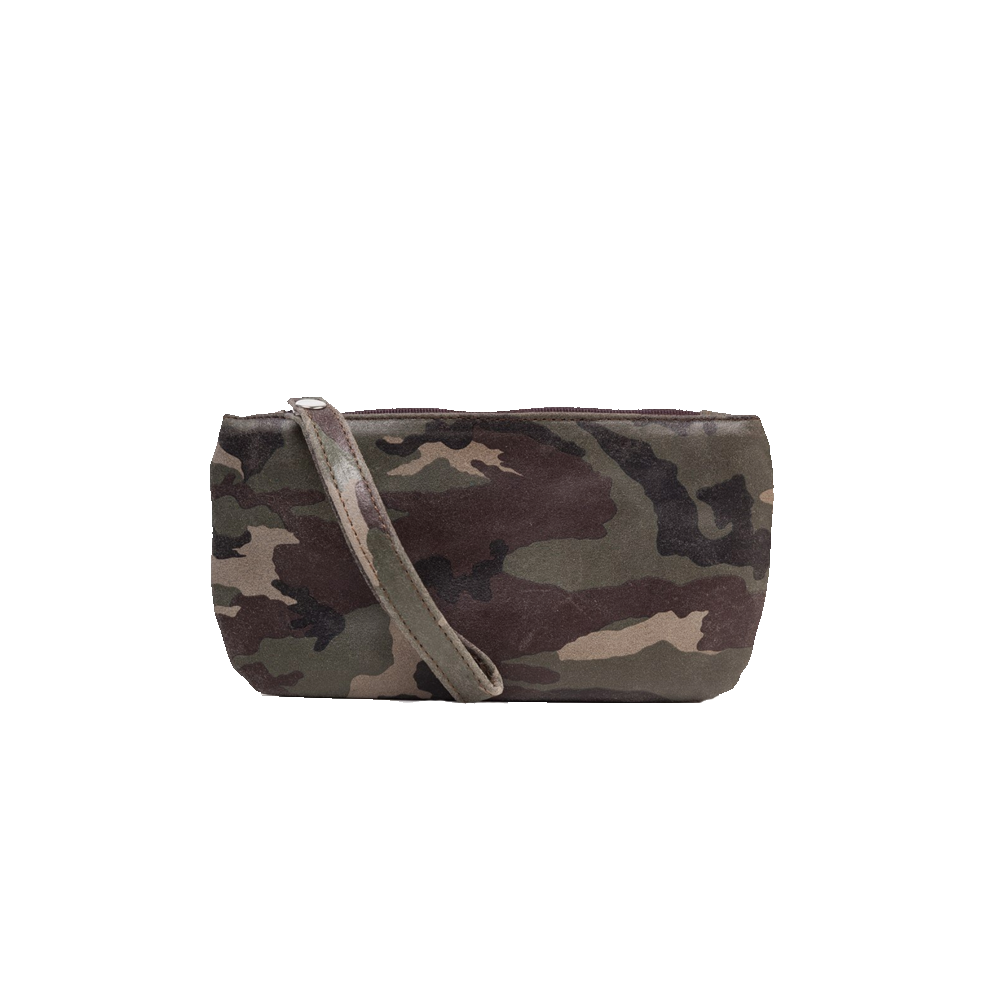 Cofi Leather Ellie Wristlet in New Camo