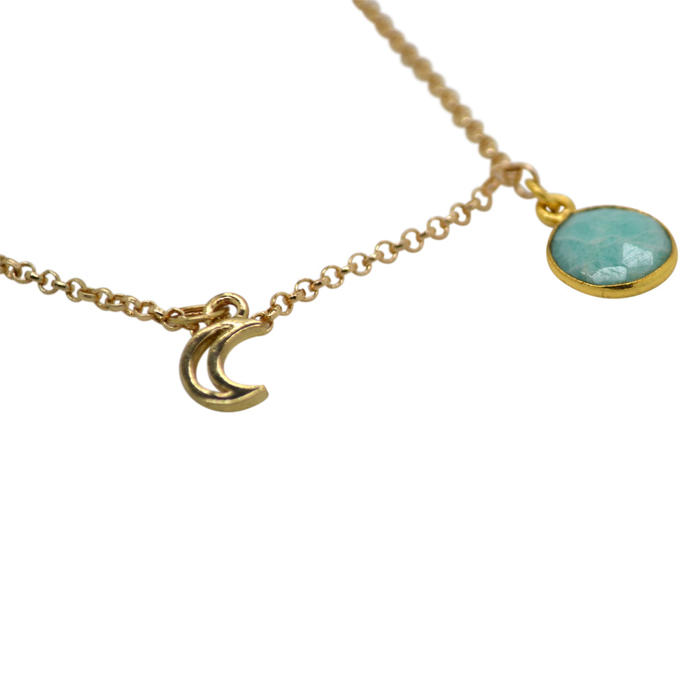 Womens Shira Melody Emery Stone Necklace in Mint - Brother's on the Boulevard