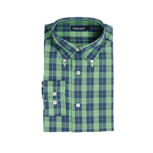 Mens Southern Marsh Exchange Check Dress Shirt in Blue and Green - Brother's on the Boulevard