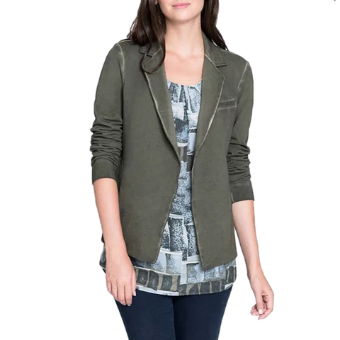 Womens Nic + Zoe Garment Dyed Jacket in Moss - Brother's on the Boulevard