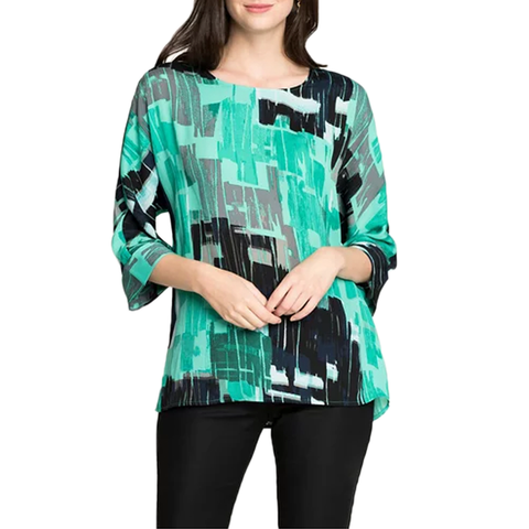Womens Nic + Zoe Jade Pebble Top in Multi - Brother's on the Boulevard