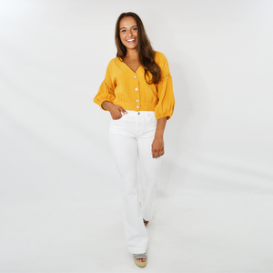 Womens Rouge Bianca Lace Crop Top in Mustard - Brother's on the Boulevard