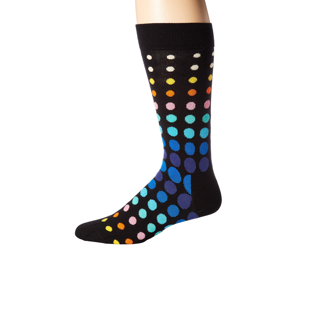 Happy Socks Faded Disco Dot Print in Black