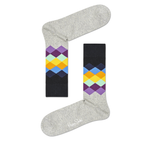 Mens Happy Socks Faded Diamond Print in Grey - Brother's on the Boulevard